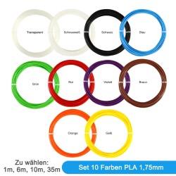 Set of 10 colours Filament...