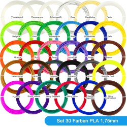 30 Farben PLA Filament...
