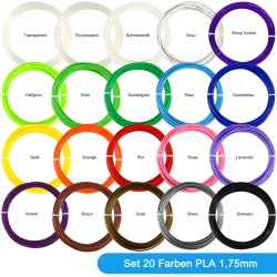 Set of 20 colours Filament...